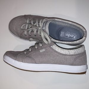 Keds tennis shoes in a beautiful taupe